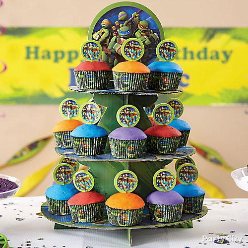 TMNT Cupcake Tower How To