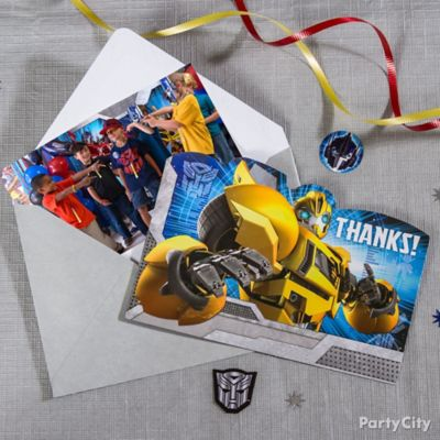 Transformers Thank You Note Idea