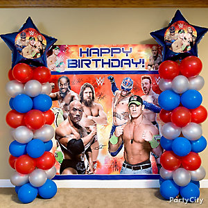 WWE Balloon Column DIY