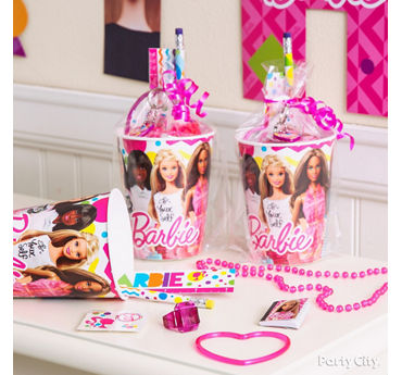 Barbie Favor Cup Idea