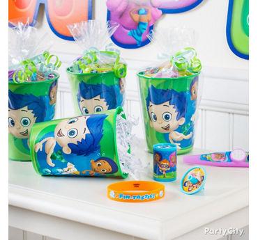Bubble Guppies Favor Cup Idea