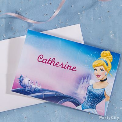 Cinderella Thank You Note Idea