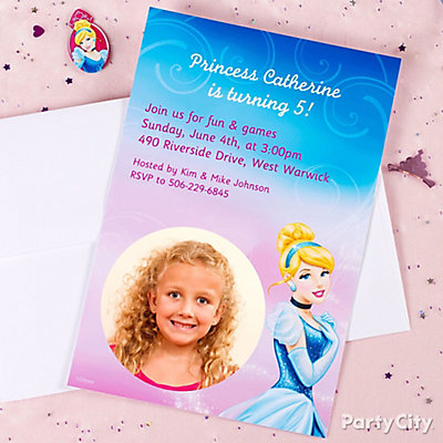 Disney Princess Custom Invite Idea