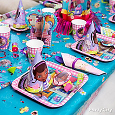 Doc McStuffins Place Setting Idea