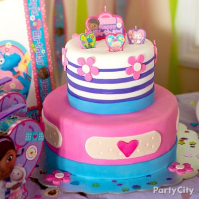Doc Mcstuffins Cake Decorating Kit : Doc McStuffins Fondant Cake How To - Party City