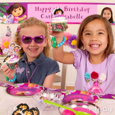 Dora Cupcake Decorating Idea