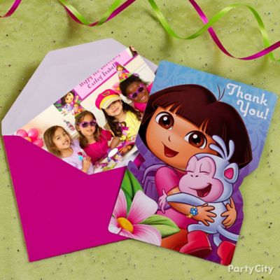 Dora Thank You Note Idea
