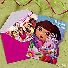 Dora Thank You Note Idea