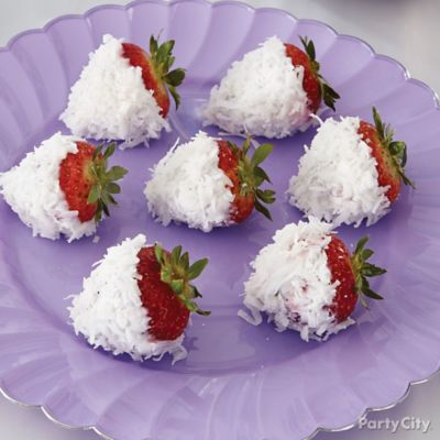 Frozen Coconut Strawberries How To