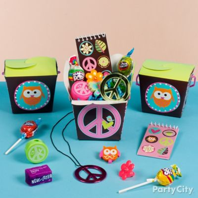 Hippie Chick Favor Box Idea