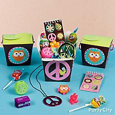 Hippie Chick Favor Box Idea