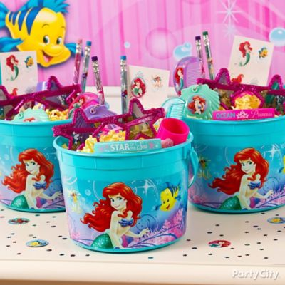 Little Mermaid Favor Bucket Idea