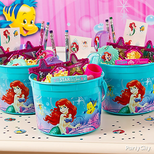 Little Mermaid Favor Bucket Idea