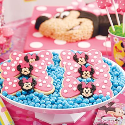 Minnie Mouse Bow Cookies How To