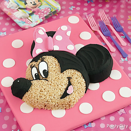 Minnie Mouse Cereal Cake How To