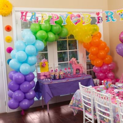 My Little Pony Rainbow Balloon Arch Party City