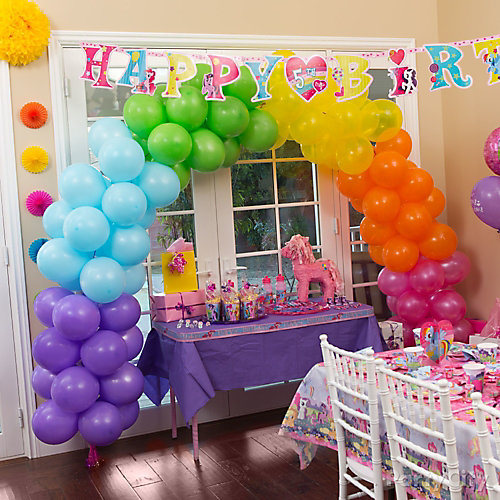My Little Pony Rainbow Balloon Arch