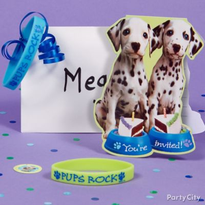 Party Pups Invite with Favor Idea