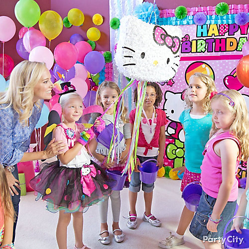 Hello kitty pinata game idea party city for All decoration games for girls