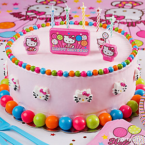 Hello Kitty Pink and Gumball Cake How To