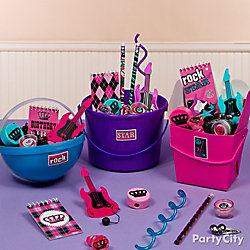 Rocker Girl Favor Bucker Idea