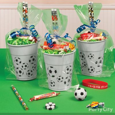 Soccer Favor Cup Idea