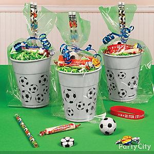 Soccer Favor Cup Idea
