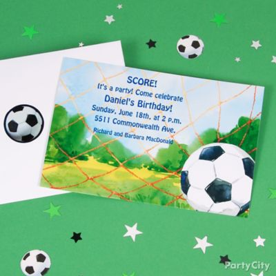 Soccer Custom Invite Idea