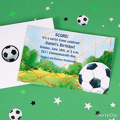Soccer Custom Invite Idea