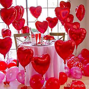 Red Heart Balloon Forest Idea, Valentines ...