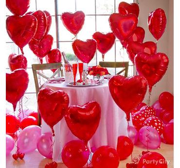 Red Heart Balloon Forest Idea