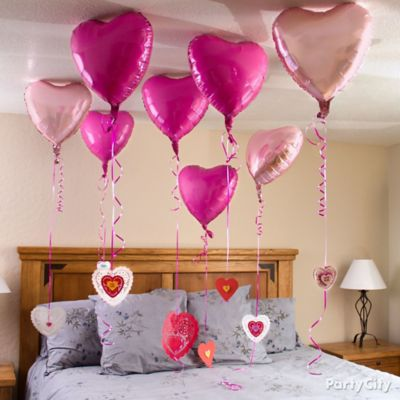 Valentine's Day Heart Balloon Messages Idea
