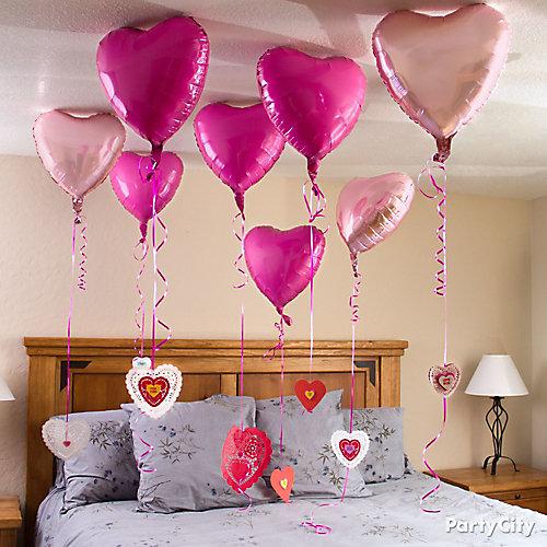 Valentine's Day Heart Balloon Messages Idea