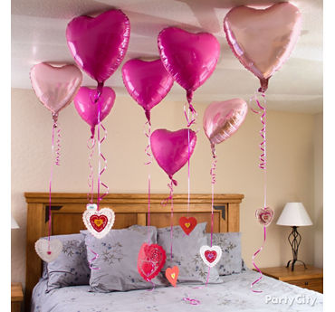 Valentines Day Heart Balloon Messages Idea