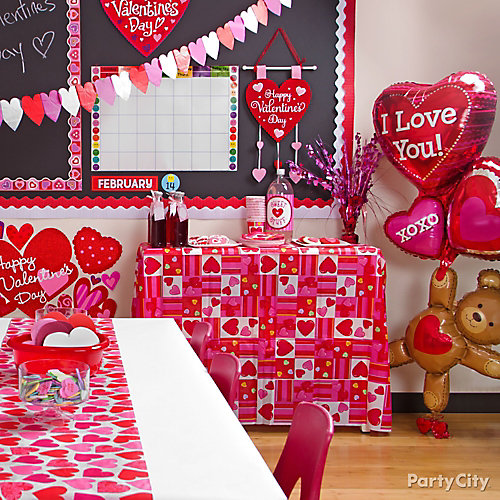 Classroom Party Ideas ~ Valentines day classroom decorating idea