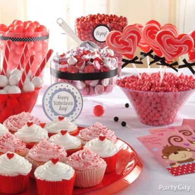 Valentines Day Treat Buffet Idea