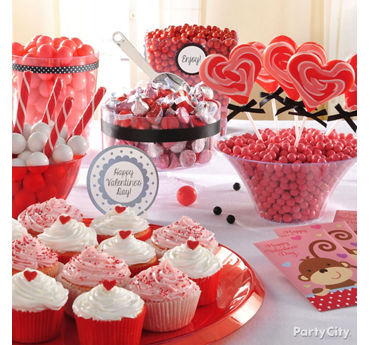Valentines Day Treat Buffet Idea