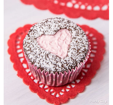 Valentines Day Filled Cupcakes Idea