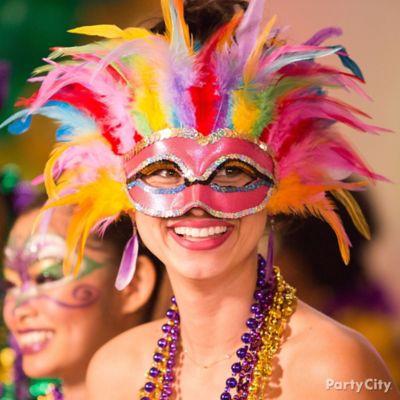 Mardi Gras Bright Belle Mask Idea