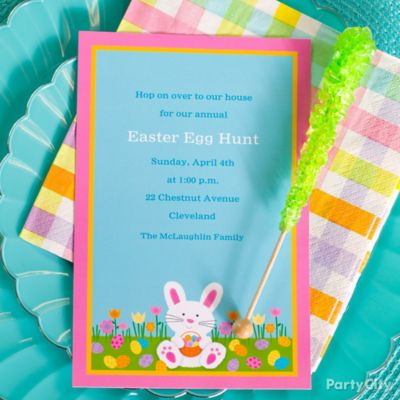 Easter Egg Hunt Custom Invite Idea