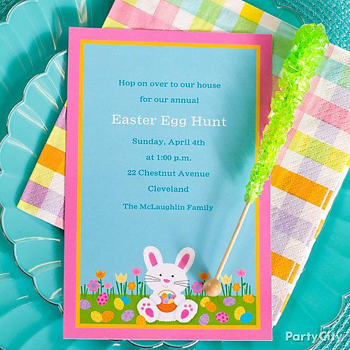 Easter Egg Hunt Custom Invite Idea