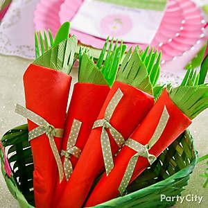 Carrot Napkin and Cutlery Idea