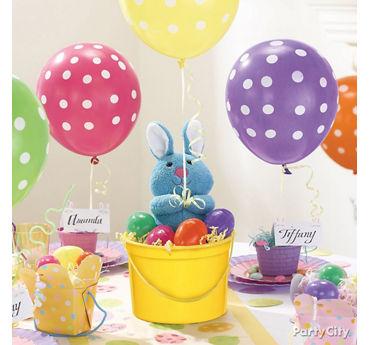 Bunny Balloon Easter Centerpiece Idea
