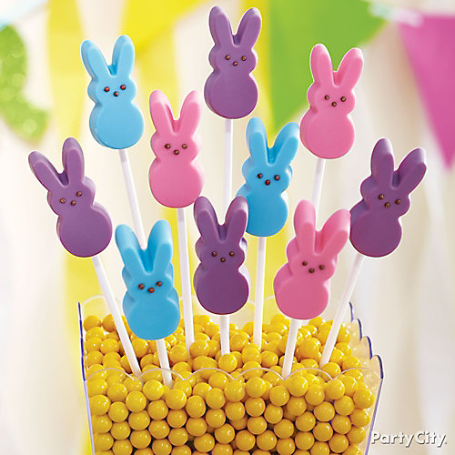Peeps Bunny Candy Pops How To