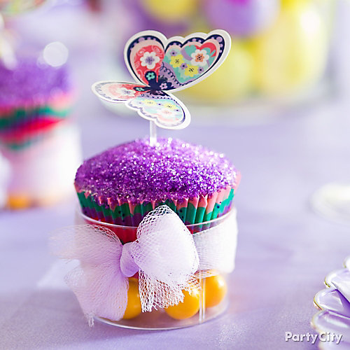 Butterfly Cupcake and Gumball Cup Idea