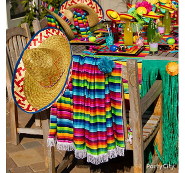 Fiesta Chair Decorating Ideas & Colorful Fiesta Party Ideas - Cinco de Mayo Party Ideas - Party City ...