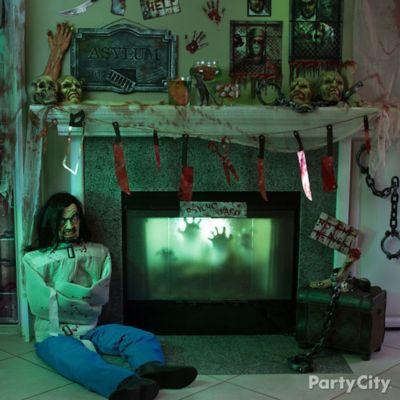 Halloween Asylum Mantel & Patient Idea