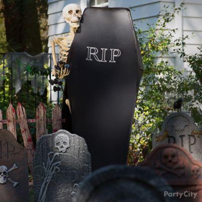 Halloween Skeleton & Coffin Idea