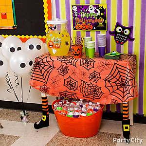Halloween Class Drink Station Idea