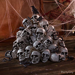 Haunted House Skulls & Crow Idea